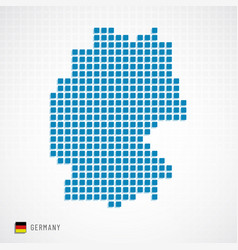 Germany map and flag icon vector
