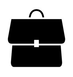 Icon backpack schoolbag vector