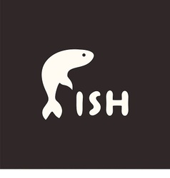 Logo fish vector