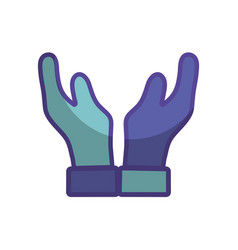 Man hands up icon vector