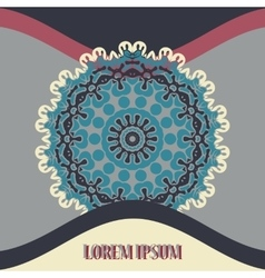 Mandala postcard or invitation cover with vector