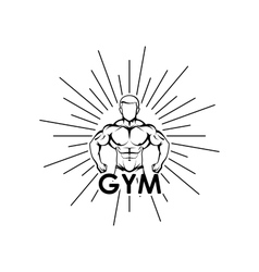 muscled man body silhouette vector image vector image