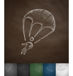 Paratrooper icon vector
