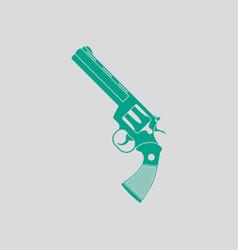 Revolver gun icon vector