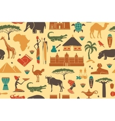 Seamless background on a theme of Africa vector image vector image