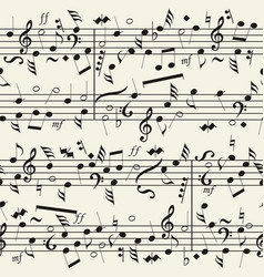 seamless musical notation background vector image vector image