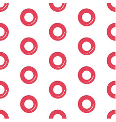 seamless pink rubber ring pattern vector image