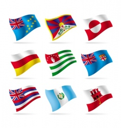 set of world flags 15 vector image