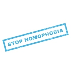 Stop homophobia rubber stamp vector