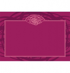 swirl border and frame vector image