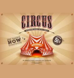 vintage old horizontal circus poster vector image vector image