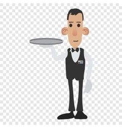 Waiter cartoon icon vector