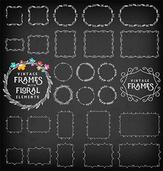 Vintage Frame and Label Collection on Chalkboard vector image