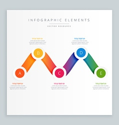 Colorful wavy infograph design vector