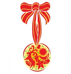 Christmas ornament special vector image