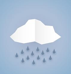Paper rain vector image