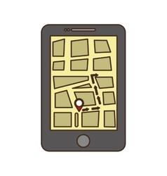 Gps on cellphone screen icon image vector