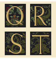 Sixteenth-Century alphabet vector image