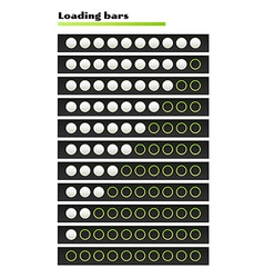 White loading bars vector