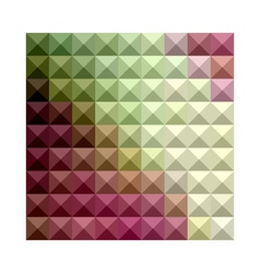 Deep mauve purple and green abstract low polygon vector