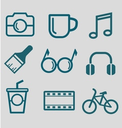 Flat icon for hipster lifestyle vector