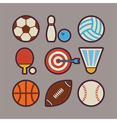 Sport items modern flat icons set vector
