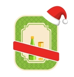 Christmas winter and new year label icon with vector