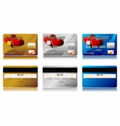 Valentines credit cards vector