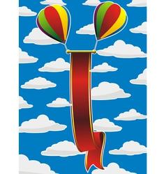 balloons red ribbon vector image