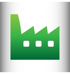 Factory sign green gradient icon vector