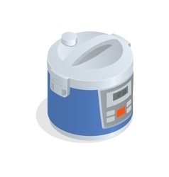 Multi cooker crock-pot multivarka isolated on vector