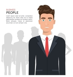 Elegant businessman isolated icon design vector