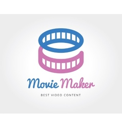 Abstract cinema film logo template for vector image vector image