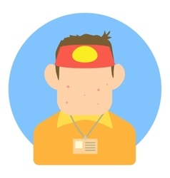 Avatar teen seller icon flat style vector
