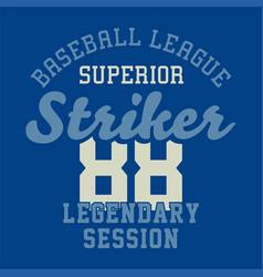 Baseball league superior vector