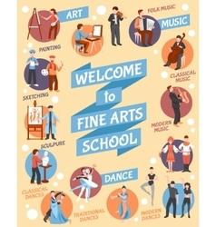 Fine arts school poster vector