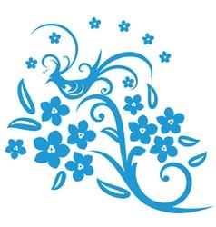 flower pattern vector image vector image