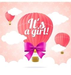 Girl Card vector image vector image