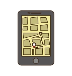 Gps on cellphone screen icon image vector