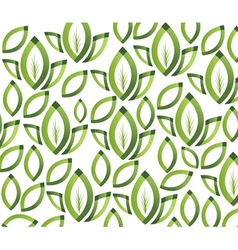 Green leafs texture vector image vector image