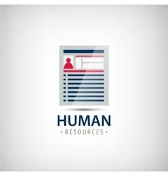Human resources resume career finder cv vector