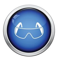 Icon of chemistry protective eyewear vector