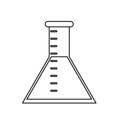laboratory test tube chemistry thin line vector image vector image