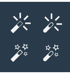 Magic wand flat icons vector image vector image