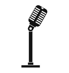 Microphone icon simple style vector