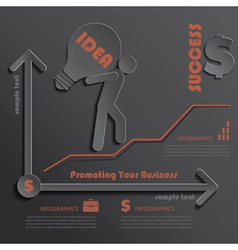 Modern template infographics business promotion vector
