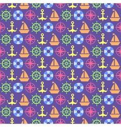 Nautical spirit pattern vector image vector image