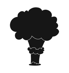 Nuclear explosion icon in black style isolated on vector image vector image