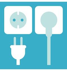 Plug and socket icon vector image vector image