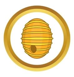 Round beehive icon vector